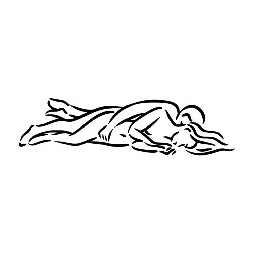 Kamasutra position de la cuillere en dessin